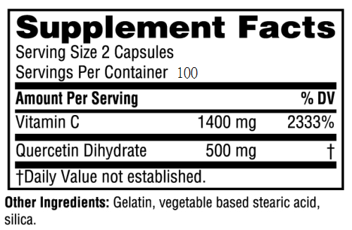 quercetin+C supplement facts