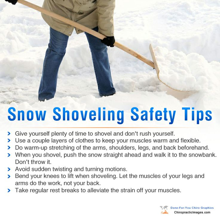 Ncwc 2014 Resolutions Shoveling Tips Chiropractic Sheet